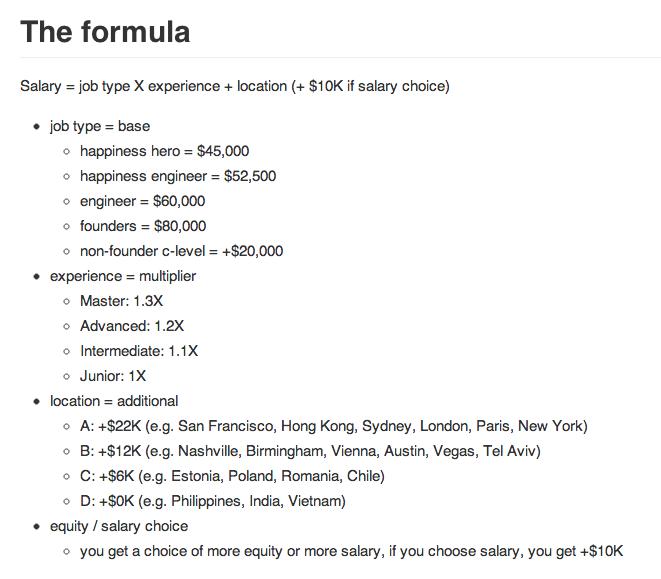 Abbildung: Vier Variablen reichen Buffer, um das Gehalt eines Mitarbeiters festzulegen.